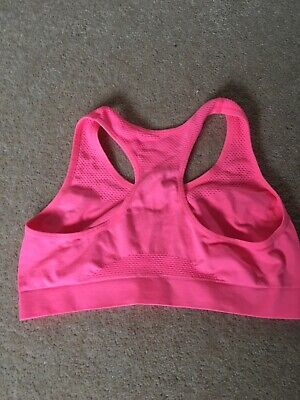 Girls Coral Pink Sports Bralet Age 12-13