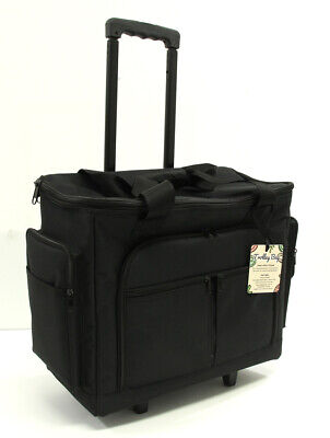 Tote SEWING MACHINE TROLLEY BAG BLACK 350 X440 X200 with pockets Storage Craft
