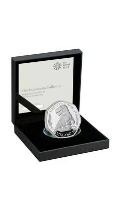 Royal Mint Megalosaurus Dinosaur 2020 Silver Proof Uk 50P Fifty Pence Coin 3,000