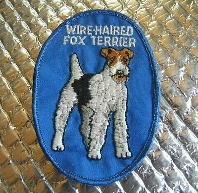 Vintage Patch Wire-Haired Fox Terrier Dog