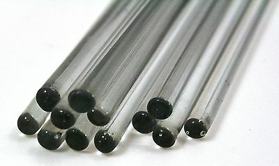 2 x GLASS STIRRING ROD, ø6 x 250mm borosilicate DURAN