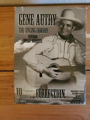 Gene Autry The Singing Cowboy Collection 10 Movies VHS OPEN Box Set. USPS SHIP!