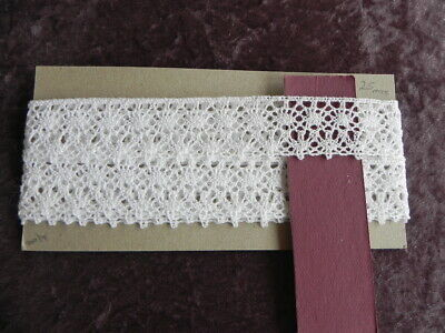 Card of New Cotton Lace -  White