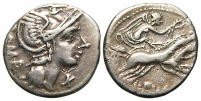 Roman Republic L. Flaminius Chilo AR Denarius (109-108 BC), Flaminia 1