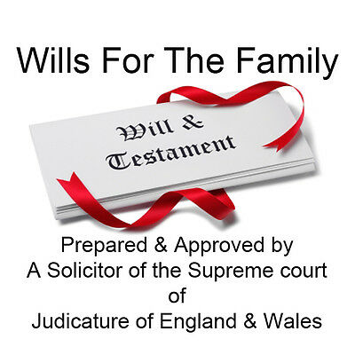 X 2 Last Will And Testament Diy Kit 8 Will Variations Included Total 22 Pages