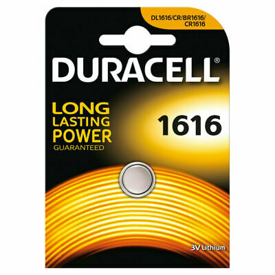 4 X Duracell CR1616 3V Lithium Button Battery Coin Cell DL/CR 1616 Expiry 2028