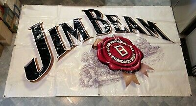 Rare Large Official Jim Beam Bourbon Promotional Banner