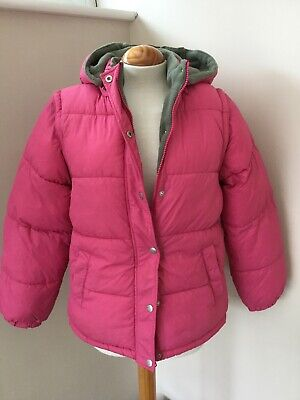 BNWOT MINI BODEN 13-14 Pink girls padded quilted Coat gilet jacket FLEECE LINED