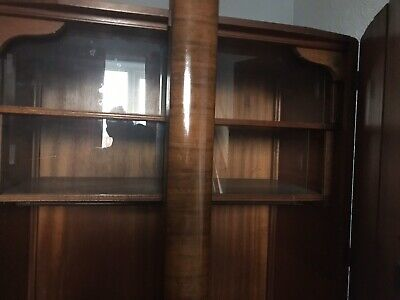 Art Deco Red Walnut Wardrobe Set 1945