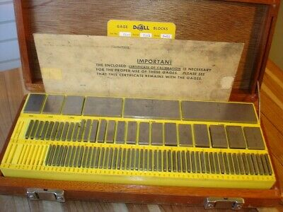 "DoALL 81 PC GRADE A+ MACHINIST TOOL INSPECTION GAGE BLOCK SET .050""- 4"" USA MADE"
