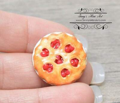 1:12 Dollhouse Miniature Cherry Pie with Heart Crust BD K2122