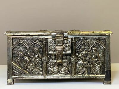 Continental Gilt Bronze Jewelry Casket