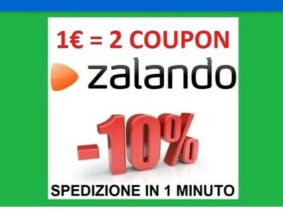 2 Coupon     Sconto 10%     Zalando Codice Immediato Buono Voucher