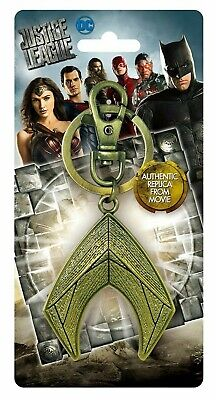 DC Justice League Movie Aquaman Trident Pewter Key Ring Accessory