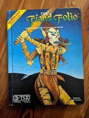 TSR Advanced Dungeons and Dragons FIEND FOLIO (1981) AD&D Hardcover Used