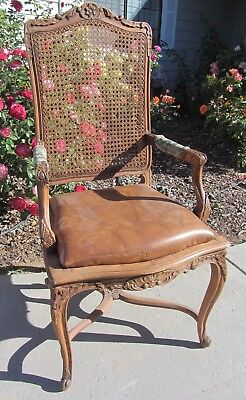 Gorgeous Very Fine Hand Carved Antique French Country Arm Chair Ornate