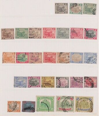 (K225-1) 1900 Malaya Federated states part set of 28 1c to$5 (A)