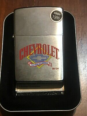 Zippo Lighter Chevrolet The Pride Of America Brushed With Original Price Sticker