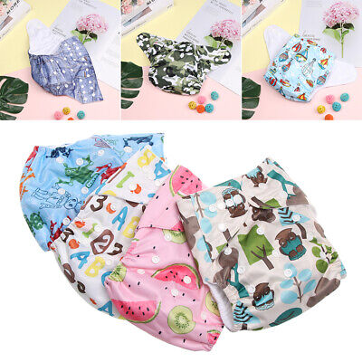 Cute Soft Washable Breathable Cloth Nappies Reusable Pocket Baby Diaper