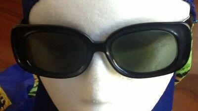 1960s B&L RAY BAN BUENA SUNGLASSES USA Black Avant garde