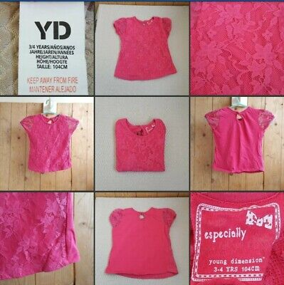 *Used* Lovely Little Baby Girls Pink Floral Lacey Top ♡YD♡ Age 1-2 Years~Casual