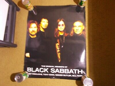 >>>>   BLACK SABBATH   1998 2 sided   poster PROMO   Approx, size 24 x 30""