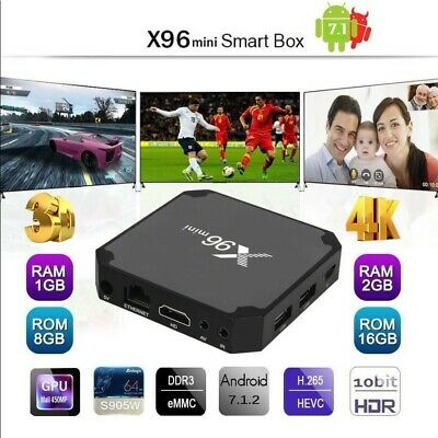 X96 TV Box 1+8/2+16GB Mini 4K HD 1080P WiFi Multimedia Android 7.1 Quad Core G
