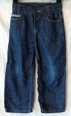 Boys Ted Baker Dark Blue Denim Adjustable Waist Relaxed Fit Jeans Age 3-4 Years