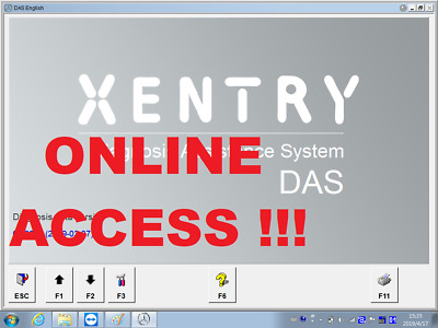 Xentry ONE TIME online access daimler PROGRAMMING SCN FULL ACCESS
