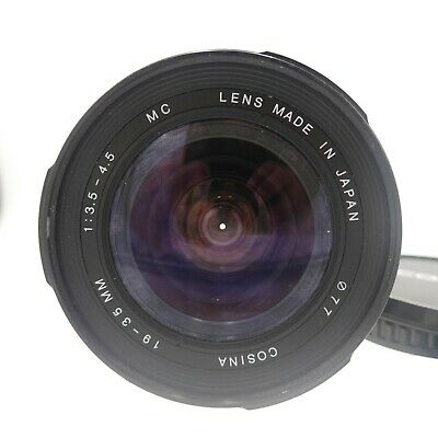 Cosina 19-35mm f/3.5-4.5 Wide Angle Lens - Canon EF - Fully Working #LM-2069