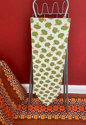 Vintage Retro Mid Century Childs Toy Metal Floral Covered Ironing Board