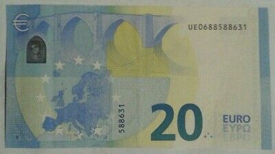 20 euros 2015 palindrome UE0688588631 -7 chiffres draghi