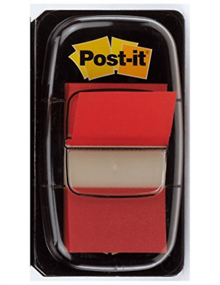 3M Post-it Index Flags 25mm 50 Tabs Red 680-1 - (PK12) NEW