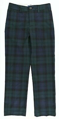 POLO RALPH LAUREN Boys' Smart Pants, Trousers, Dark Green Checked, 10 years