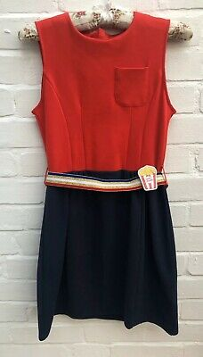 Little Marc Jacobs Dress Age 12 150 Blue & Red Belted Party Wedding
