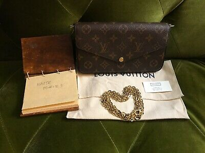 Brand New Auth 2019 Louis Vuitton Monogram Pochette Felicie Crossbody bag