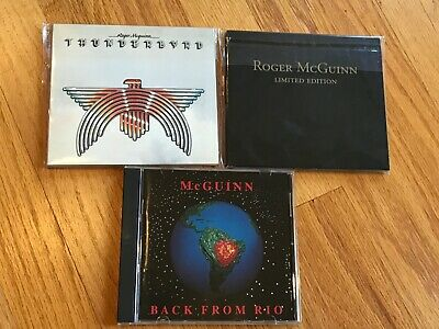 3-CD Lot Roger McGuinn Limited Edition/Back From Rio/Thunderbyrd Tom Petty & HBs