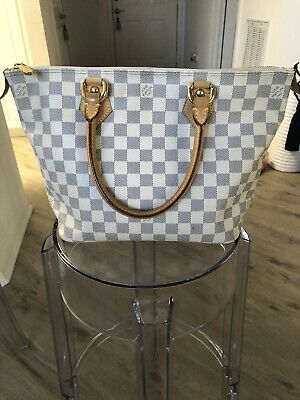 Auth LOUIS VUITTON Damier Azur Saleya PM