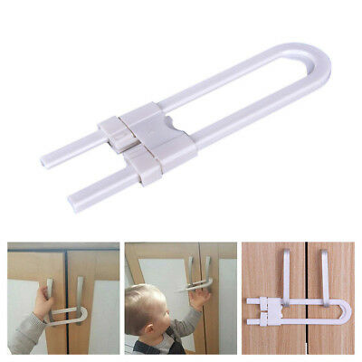 Baby Safety Lock U-Shape Security Children Protection For Cabinet Cupboard Door