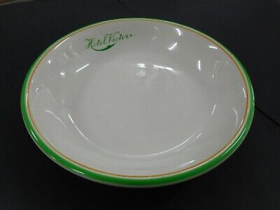 Vintage Obsolete Victor Harbour Hotel Advertising Service Ware Shallow Bowl
