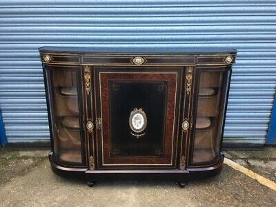 Victorian Ebonised Credenza with ormalou mounts and Serves plaques