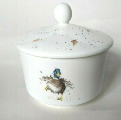 Royal Worcester Wrendale Covered Sugar Bowl - Duck Design - new in packaging