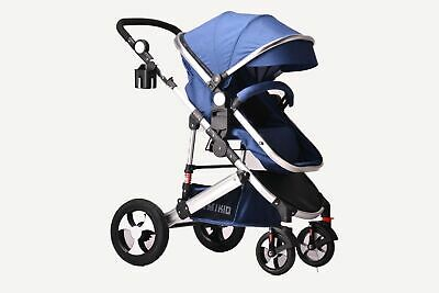 2 in1 Newborn Baby Pram Pushchair Travel System Buggy Stroller Without Car Seat
