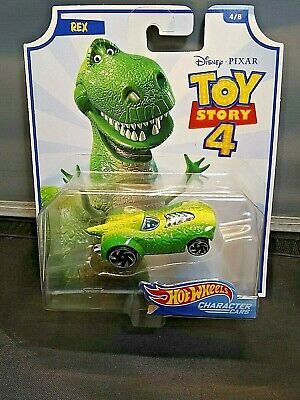 Toy Story 4 Rex Hot Wheels Character Car #4/8 Disney Pixar Collect Them All
