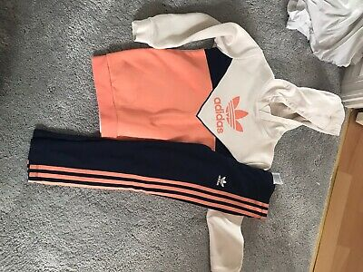 Girls Adidas Tracksuit Set Outfit Age 6-7