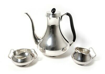 Silver coffee set, 3 items.  Denmark, workshop Svend Toxsværd. Art Deco.