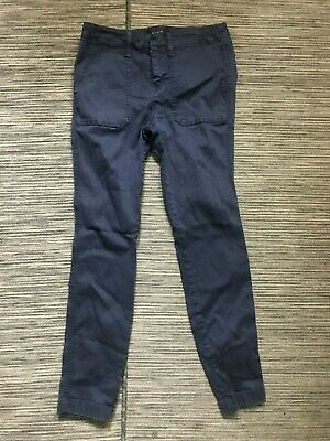 J Crew Adult Womens 26 Skinny Stretch Cargo Pants Blue B8708