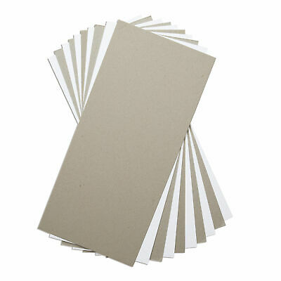 """10 Pack of Sizzix Mixed Media Board in White & Grey (6"""" x 13"""") – 663891"""