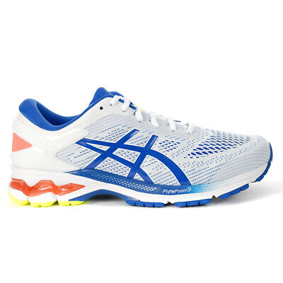 ASICS Men's Gel-Kayano 26 White/Lake Drive Sportstyle Shoes 1011A541.100 NEW