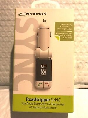 Bracketron - Roadtripper SYNC Bluetooth FM transmitter - White NEW!!